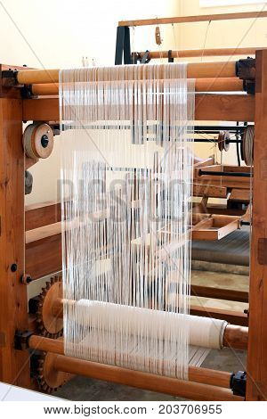 Old Wooden Loom For Weaving Textiles