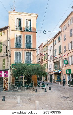 Street In Brignoles, A Provencal Town In France