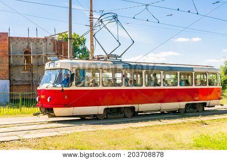 White Tramway In Kiev