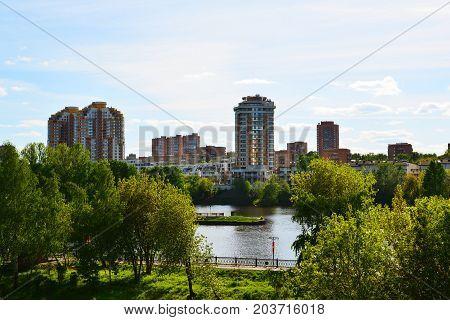 Eco-friendly Levoberezhny district in a Khimki, Russia