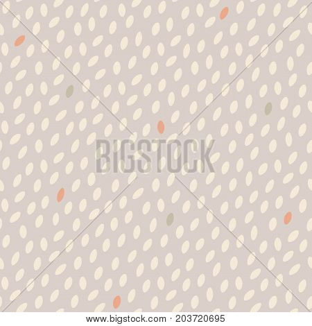 Abstract spotted seamless pattern. Simple background with speckles.