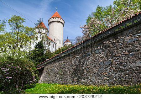 Facade Of Konopiste, Castle In Czech Republic