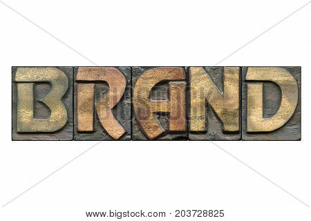 Brand Word Isolated