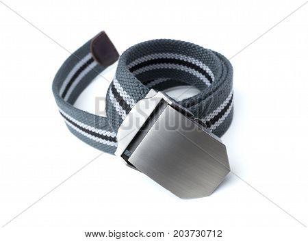 men's belt isolated on white background. Classic style of fashion belt.