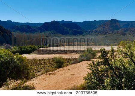 Empty Dam In The Valley