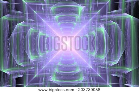 Digitally generated image made of colorful fractal to serve as backdrop for projects related to fantasy creativity imagination art and web design.