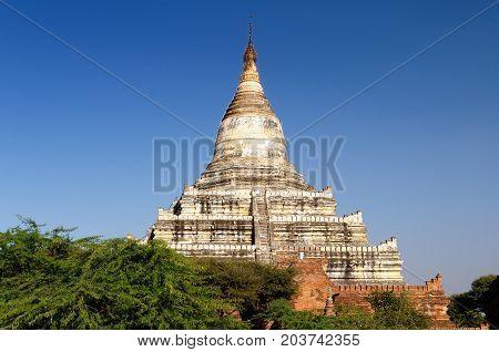 BaganShwesandaw Paya Temple the most important temple in Bagan Myanmar