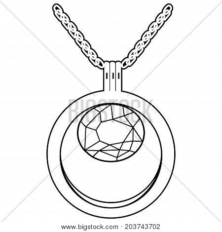 Isolated Necklace Outline