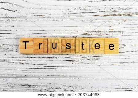 Trustee word made with wooden blocks concept