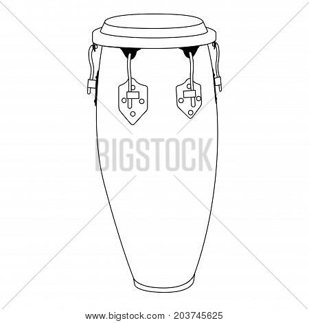 Isolated Conga Drum Outline