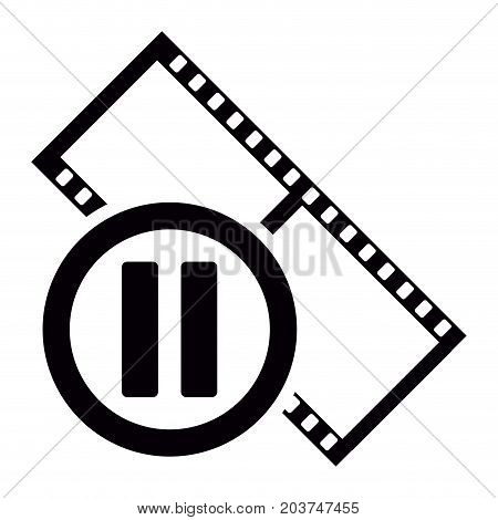 Isolated Filmstrip Icon