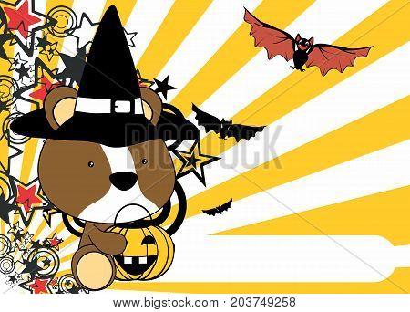 cute little baby hamster cartoon halloween costume background in vector format very easy to edit