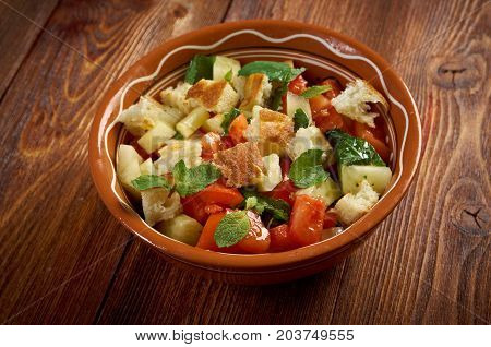 Fattoush - Lebanese Salad.tasty Arabiccuisine close up meal