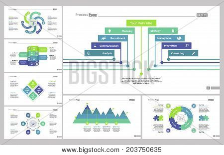 Infographic design set can be used for workflow layout, diagram, annual report, presentation, web design. Business and workflow concept with process charts.