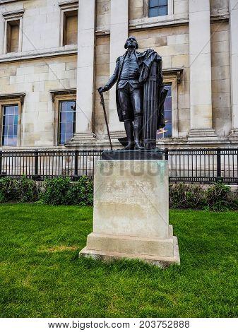 Washington Statue In London (hdr)