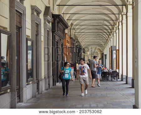 People In Via Po In Turin