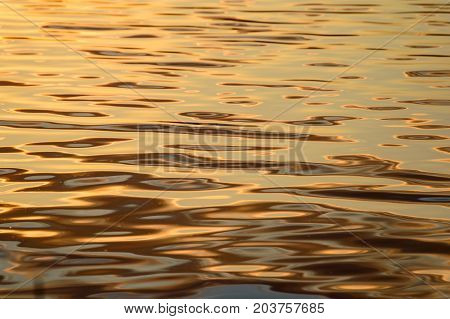 Reflections In The Calm Lake Water