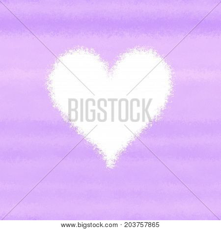 Lila pink spray abstract white heart background