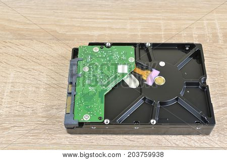 Hard Disk On A Desk