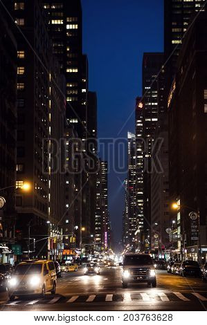 New York City Streets At Night