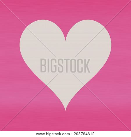 Pastel bright pink gradient background with light empty heart