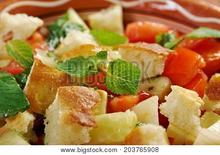 Fattoush - Lebanese Salad.tasty Arabiccuisine , close up meal