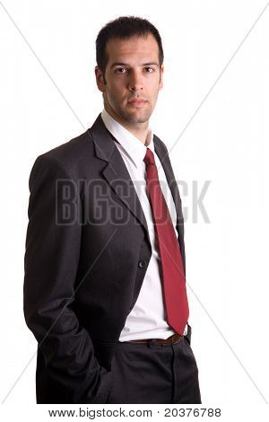 portrait of a young businessman in a suit