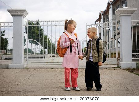 children the first day at school