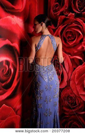 beautiful woman in fancy dress