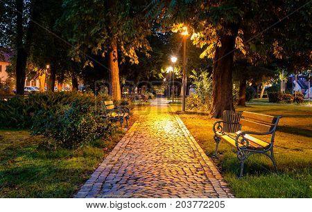 A nice park by the church in Velika Gorica near Zagreb Croatia