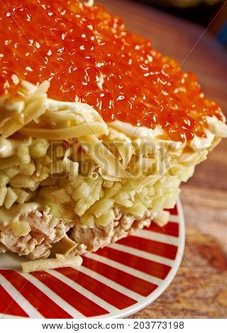 Chicken Salad With Apple And Red Roe