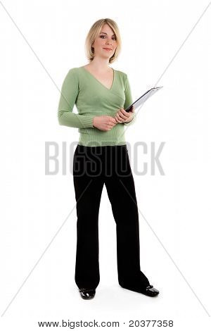 whole figure of  businesswoman