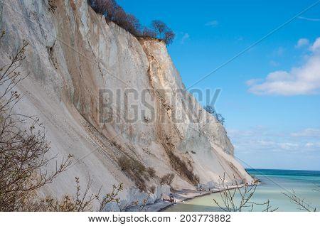 Mons Klint Cliffs in Denmark on a spring day