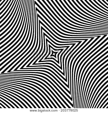 Abstract op art design. Textured background. Vector art.