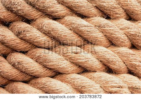 Strands of tight knotted rope makes for an interesting design and texture.
