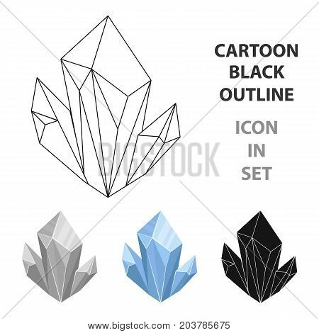 Blue natural mineral icon in cartoon design isolated on white background. Precious minerals and jeweler symbol stock vector illustration.