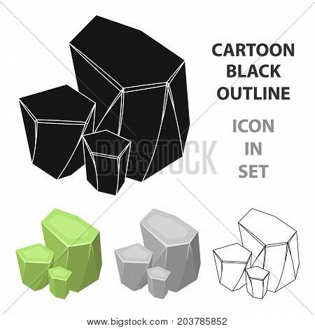 Light green rough gemstone icon in cartoon design isolated on white background. Precious minerals and jeweler symbol stock vector illustration.