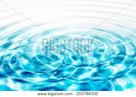 ripples in water, clean and purity concept, 3d rendering
