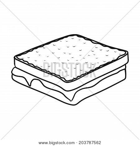 Tasty food, a sandwich with chocolate.Food single icon in outline style vector symbol stock illustration .