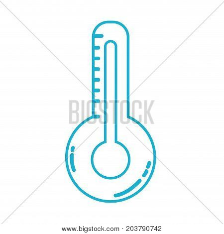 line thermometer measure of temerature and indicator hot instrument vector illustration