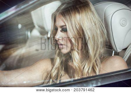 Beauty Portrait Of Caucasian Woman.