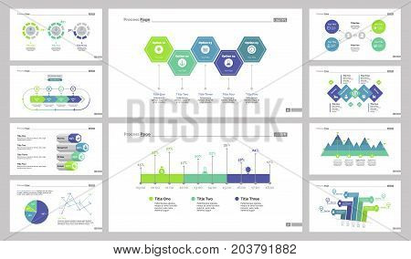 Diagram design set can be used for workflow layout, annual report, presentations. Business and marketing concept with comparison, percentage, option, pie, scatter plot, process, area, flow charts