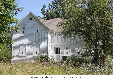 A farm building in Port Oneida Rural Historic District, Sleeping Bear Dunes National Lakeshore,  Michigan