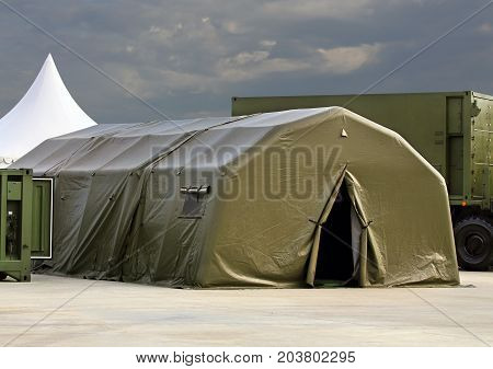 Tent for placement of personnel on military range