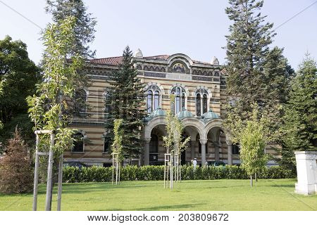SOFIA, BULGARIA - AUGUST 09, 2017:The building of the Holy Synod in Sofia Bulgaria.
