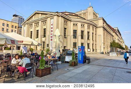 Katowice, Poland - September 8, 2017: Stanislaw Wyspianski Theatre On 8 September 2017 In Katowice,