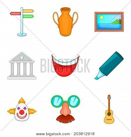 Activist icons set. Cartoon set of 9 activist vector icons for web isolated on white background