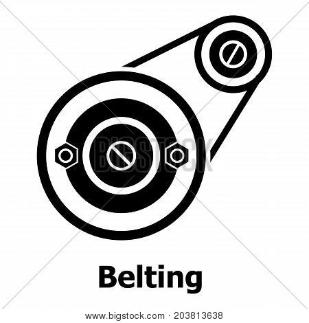 Belting drive icon. Simple illustration of belting drive vector icon for web