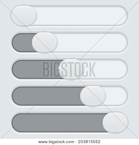 Gray interface slider bar. web button. Vector illustration