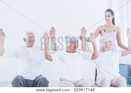 Elderly People During Corrective Gymnastic
